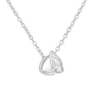 Верховая головы - 925 стерлингового серебра Обычная ожерелья - W18525X