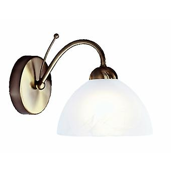 Milanese Antique Brass And Glass Single Wall Light - Searchlight 1131-1AB