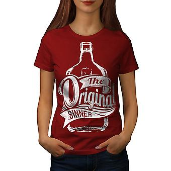 Unique Sinner Funny Women RedT-shirt | Wellcoda