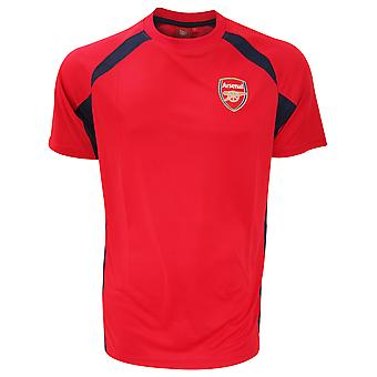 Arsenal FC Mens Official Football Crest Panel T-Shirt