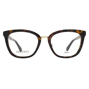 Jimmy Choo JC165 Glasses In Havana Glitter