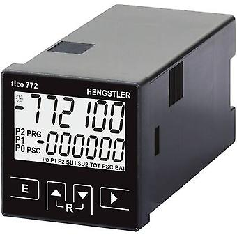 Hengstler tico 772 12 - 30 V/DC 1 Multifunctional counter tico 772 12 - 30 V/DC 1R Assembly dimensions 45 x 45 mm