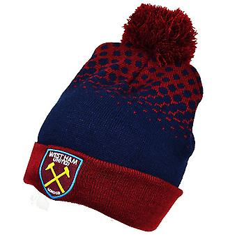 West Ham United FC Official Cuff Bobble Knitted Hat