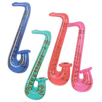 24 Inflatable Saxophones 80cm (4 Assorted Colours) 51546