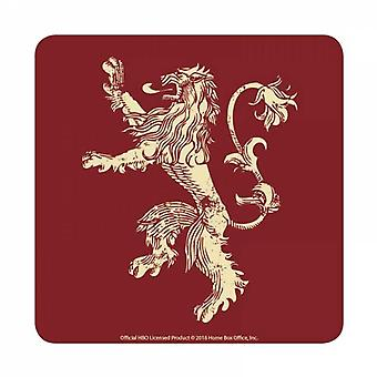 Game Of Thrones Coaster Lannister House Sigil new Official Red