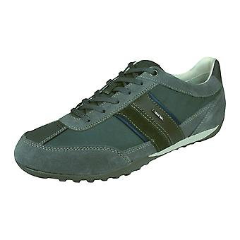 Geox U Wells C Mens Trainers / Shoes - Dark Grey