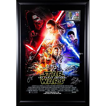 Star Wars: The Force Awakens - Signed Movie Poster
