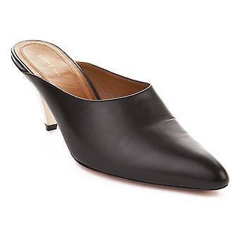 Céline kvinder læder højhælede pumpe sko sort