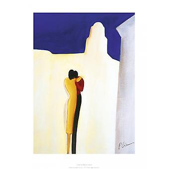 Impressão de cartaz amantes por Patrick Ciranna (12 x 16)