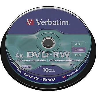 Blank DVD-RW 4.7 GB Verbatim 43552 10 pc(s) Spindl
