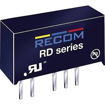 RECOM RD-0512D DC/DC converter (print) 5 Vdc 12 Vdc, -12 Vdc 84 mA 2 W No. of outputs: 2 x