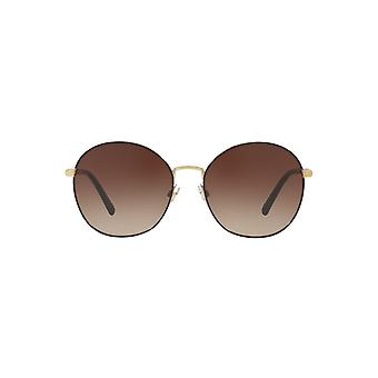 Burberry Large Metal Round Sunglasses In Light Gold Brown
