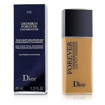 Christian Dior Diorskin Forever Undercover 24h Wear Full Coverage Water Based Foundation - # 040 Honey Beige - 40ml/1.3oz