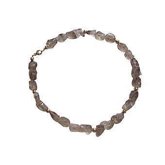 Gemstone chain necklace smoky quartz necklace OPOSSUM gold plated
