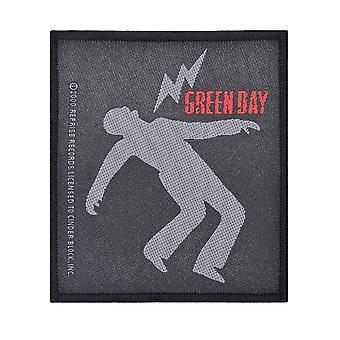 Green Day Lightning Bolt tessuto Patch