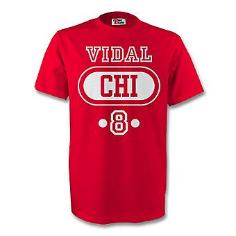 Arturo Vidal Chile Chi T-shirt (rød) - barn