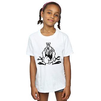 Looney Tunes Girls Taz Large Head T-Shirt