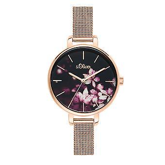 s.Oliver féminines regarder montre-bracelet en acier inoxydable SO-3592-MQ