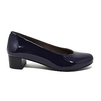 Liberitae Zapatos De Salón Salón Punta Redonda En Charol Azul Marino 21603452-33