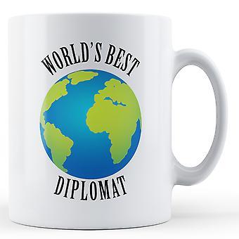 Världens bästa Diplomat - tryckt mugg