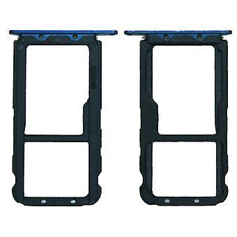 Ersatz Sim Karten Halter Adapter Sim Tray für Huawei Mate 20 Lite Reparatur Blau