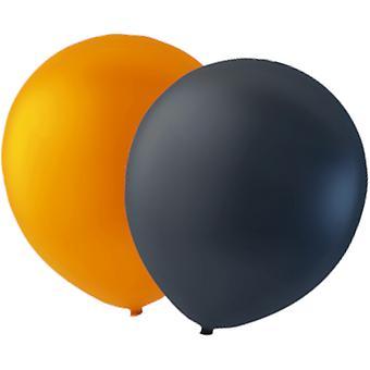 paquete de 24 globos de naranja/negro