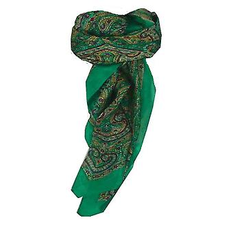 Mulberry Silk Traditional Square Scarf Suya Teal by Pashmina & Silk