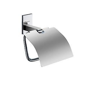 Gedy Maine Toilet Roll Holder With Flap Chrome 7825 13