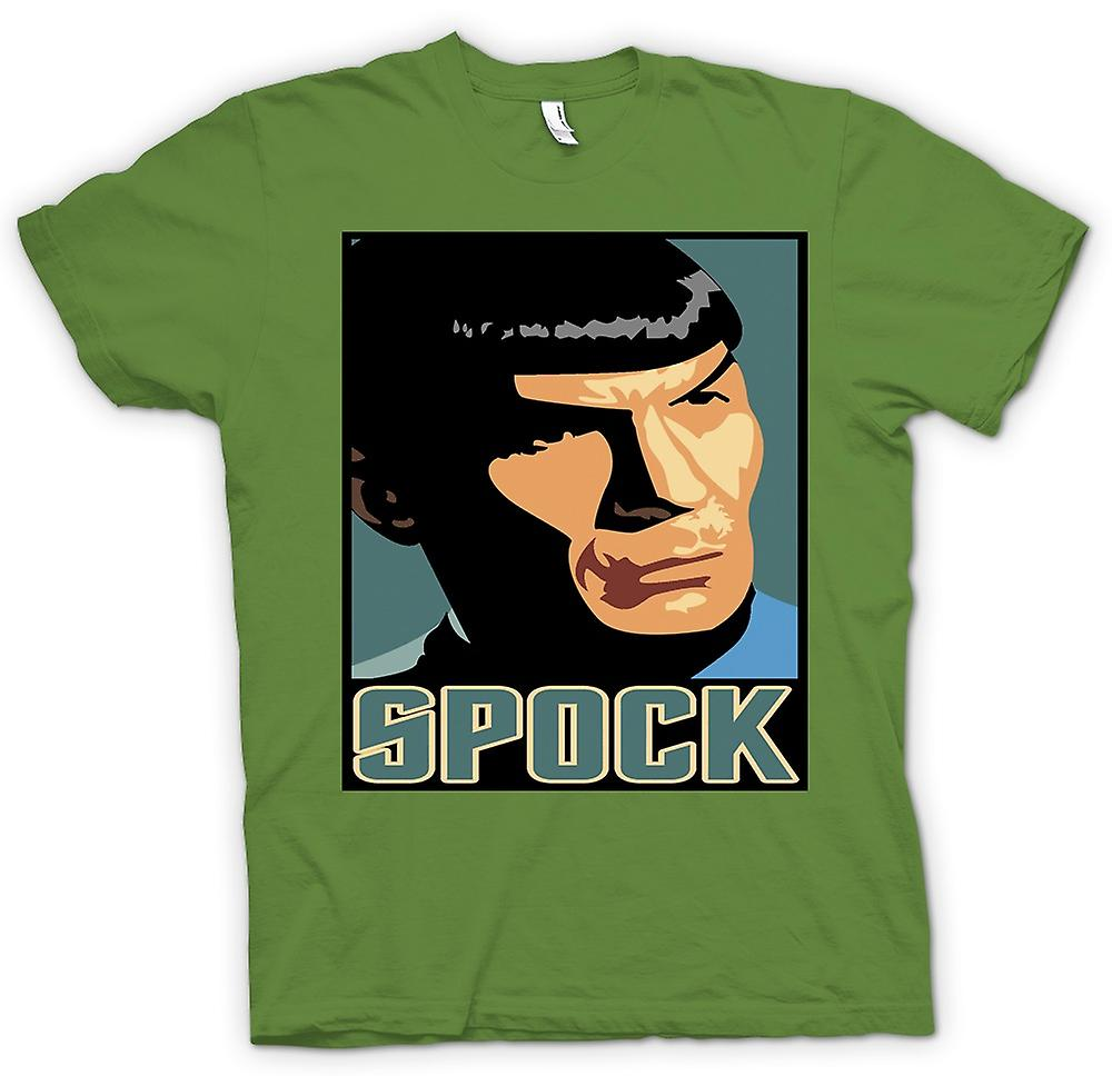 Herr T-shirt-Star Trek - Pop Art - Spock