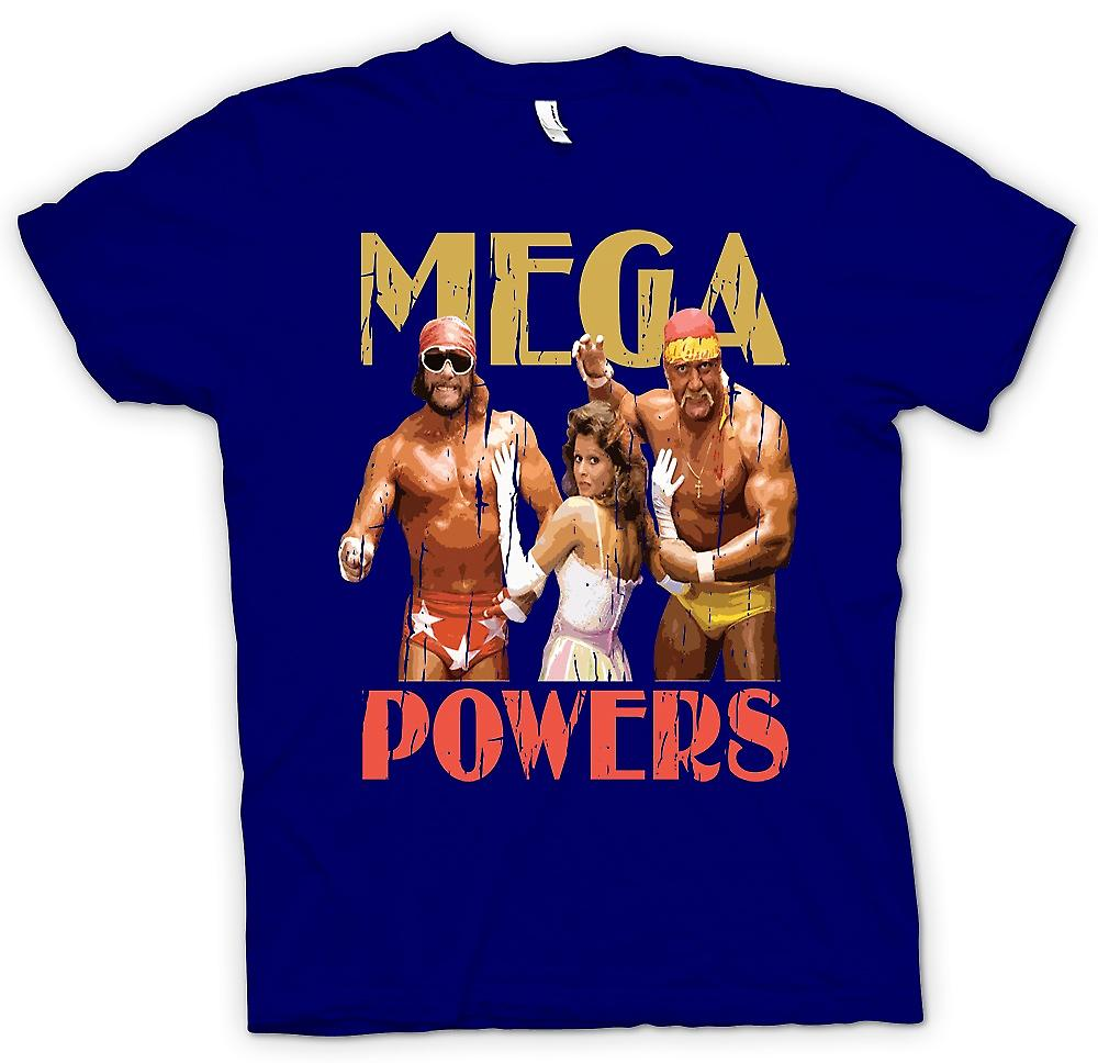 Mens T-shirt - Mega Powers - Hulk Wrestling