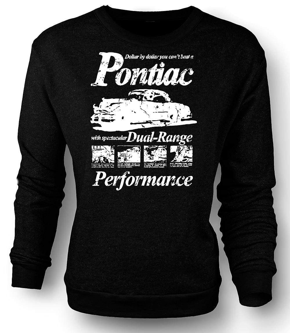 Mens Sweatshirt Pontiac - Classic US Sports Car - Dual