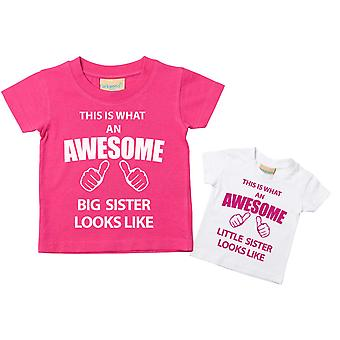 This What An Awesome Big Sister Little Sister Tshirt Set
