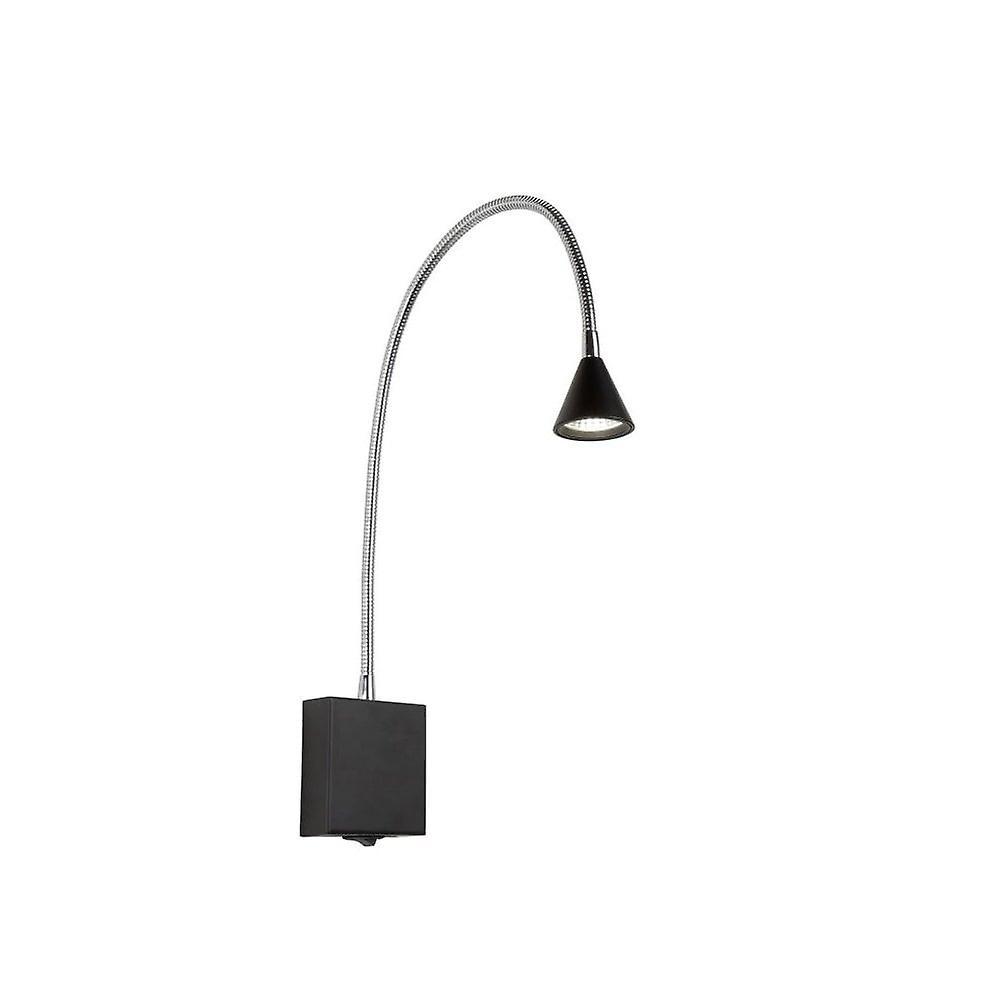 Lucide Buddy Modern Metal noir And Chrome Bedside Lamp