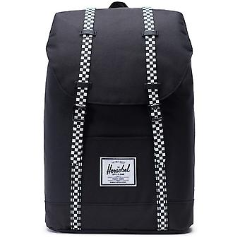 Herschel Black-Checkerboard Retreat - 19.5 Litre Laptop Backpack