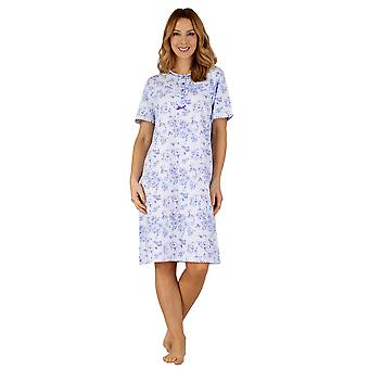 Slenderella ND3101 Frauen Baumwoll Jersey Night Gown Loungewear Nachthemd