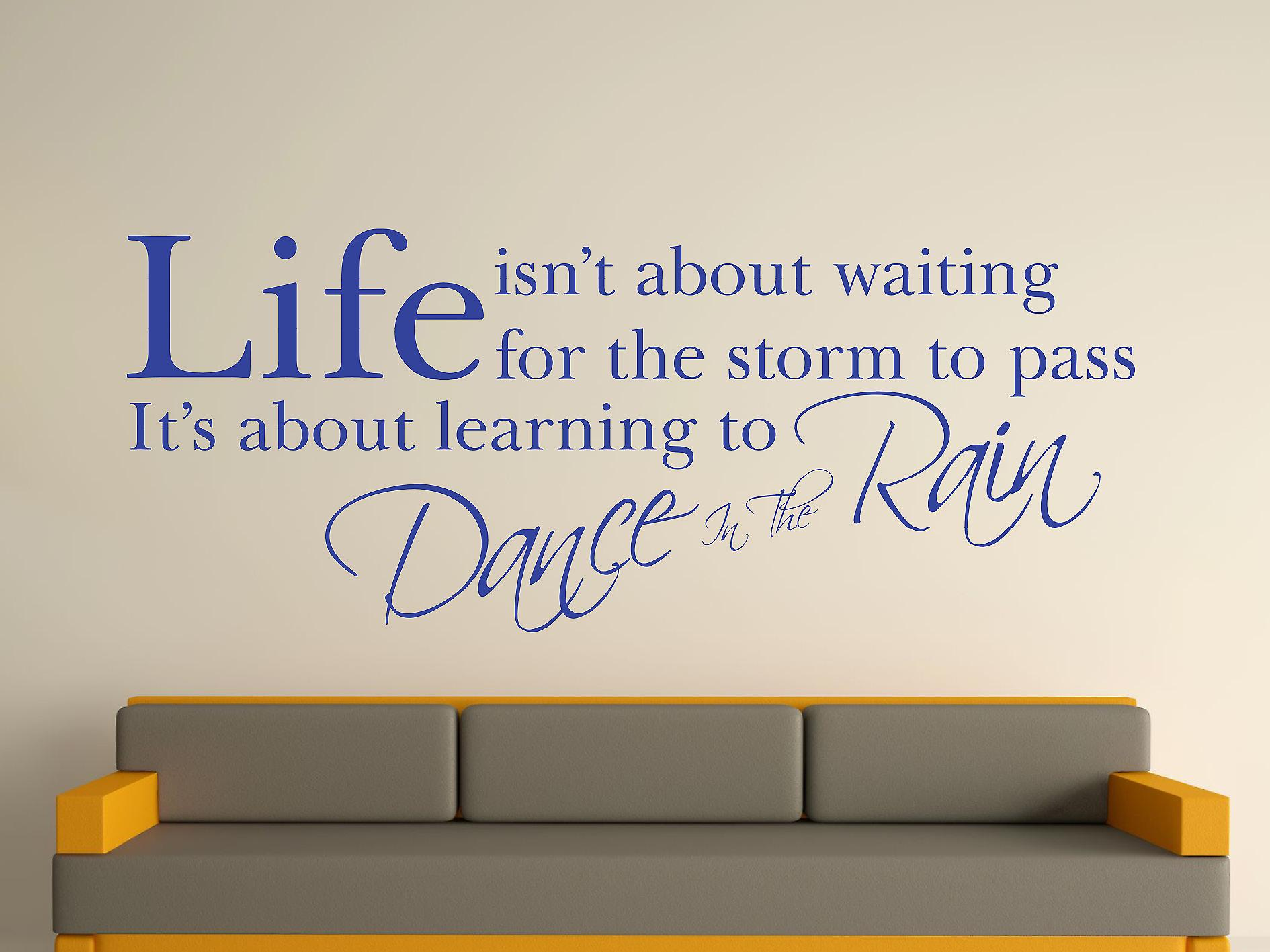 Dance In The Rain Wall Art Sticker - Brilliant Blue