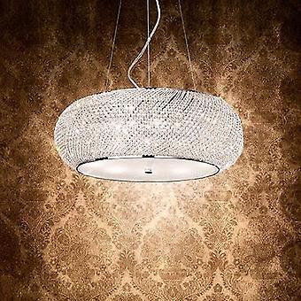 Ideale Lux - Pasha chroom en kristal Ten licht hanger IDL082196