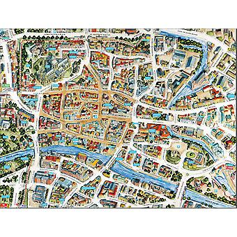 Cityscapes Street Map Of York 400 Piece Jigsaw Puzzle 470mm x 320mm (hpy)