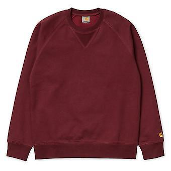 Carhartt WIP Chase tröja jumper tranbär