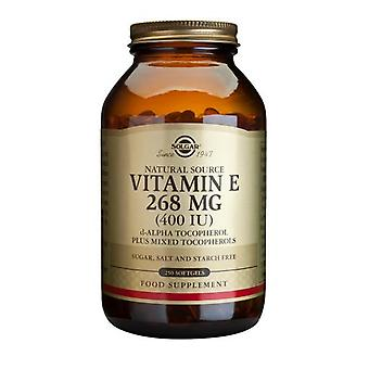 Solgar Vitamin E 268 mg (400 IU) Mixed Softgels, 250