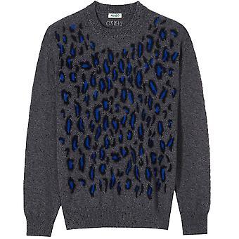Kenzo Leopard Sweater Grey