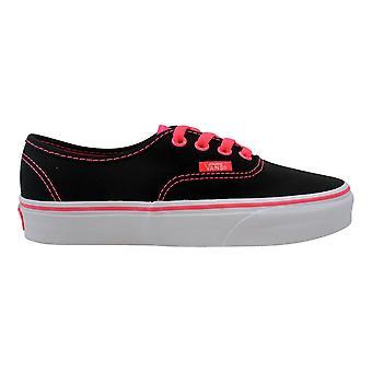 Vans Authentic Pop Black/Neon Red VN-0VOEBYF Men's