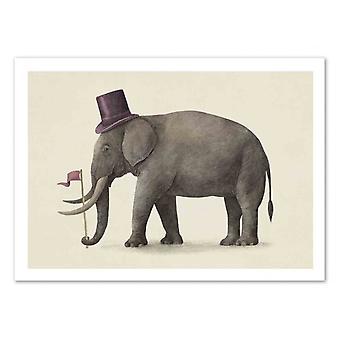 Art-Poster - Elephant Day - Terry Fan 50 x 70 cm