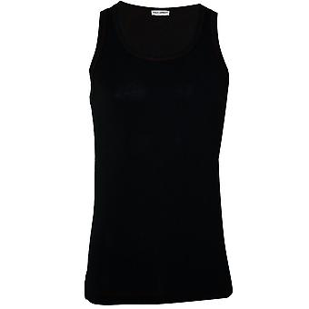 Dolce & Gabbana Sport Pima Cotton Stretch Gym Vest, Black