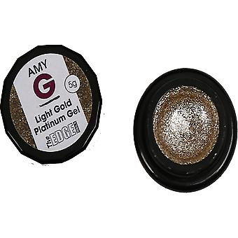 The Edge Nails Amy G - Metallic Platinum Gels - Light Gold 5g (3003040)