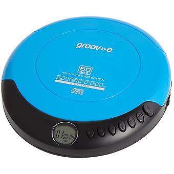 Groov-e Retro-Serie persönlichen CD-Player mit Kopfhörer - blau (GVPS110BE)