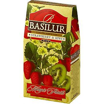 Ceylon Tea With Strawberry&kiwi Flavour-loose Black Tea 100g