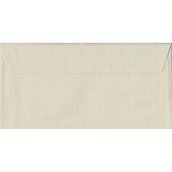 Marteau d'Ivoire Peel/sceau DL couleur ivoire enveloppes. 100gsm FSC papier durable. 110 mm x 220 mm. enveloppe de Style portefeuille.