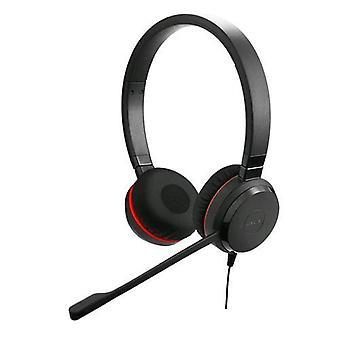Jabra evolve 20se stereo headphones with usb microphone color black