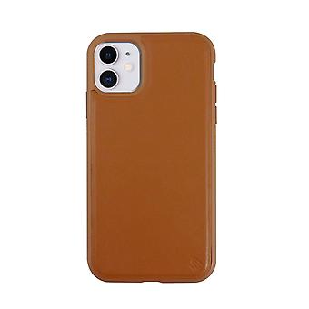 Eco Leather iPhone 11 Case Biodegradable Back Shell - Tan Snakefruit